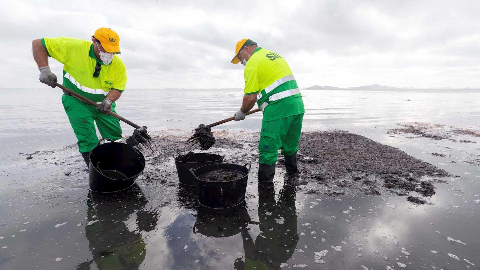España a las 8 Fin de Semana - La baja salinidad y las algas acechan a un Mar Menor que no mejora - Escuchar ahora