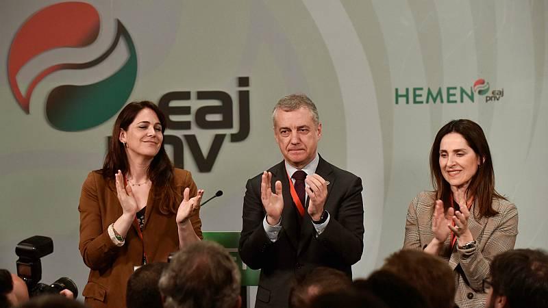 El PNV ganaría las elecciones y podría gobernar con el PSE, según el sondeo del Gobierno vasco - Escuchar ahora