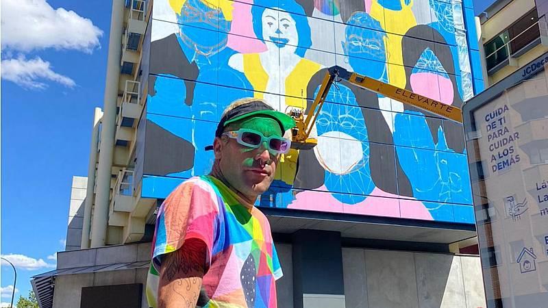 El ojo crítico - Okuda San Miguel, mascarillas multicolor en Fuenlabrada - Escuchar ahora