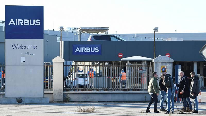 """Boletines RNE - Sánchez dice que el Gobierno trabaja con Airbus """"para sostener el empleo en España"""" - Escuchar ahora"""