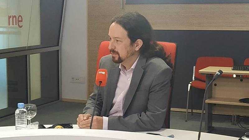"""Las mañanas de RNE con Íñigo Alfonso - Pablo Iglesias no contempla dimitir por el 'caso Dina': """"Intentan tumbar al Gobierno y que los responsables de las cloacas se vayan de rositas"""" - Escuchar ahora"""