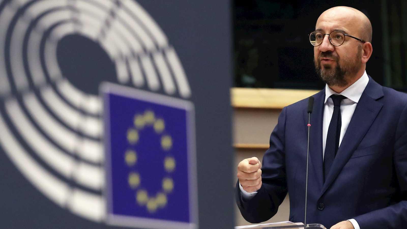 Boletines RNE - Michel mantiene los 750.000 millones de euros para el fondo de recuperación - Escuchar ahora
