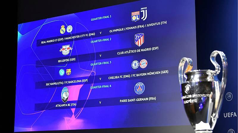 14 horas - Sorteo de la Champions: Atlético - Leipzig y un posible Madrid-Barça en cuartos - Escuchar ahora