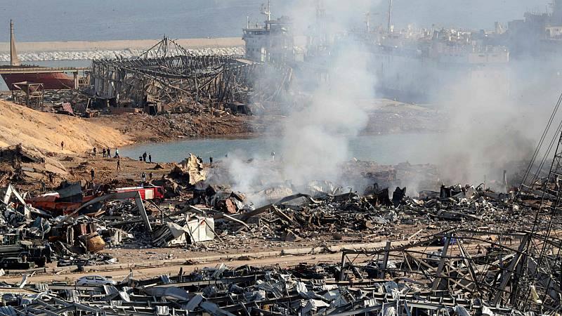 Boletines RNE - Más de 100 muertos en dos explosiones en Beirut, Líbano - Escuchar ahora