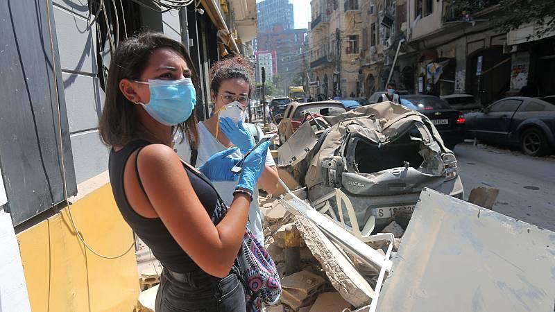 """14 horas - Profesora residente en Beirut: """"Todo está completamente destruido"""" - Escuchar ahora"""