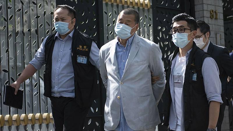 Boletines RNE - Jimmy Lai, figura relevante de la prodemocracia en Hong Kong, detenido - Escuchar ahora