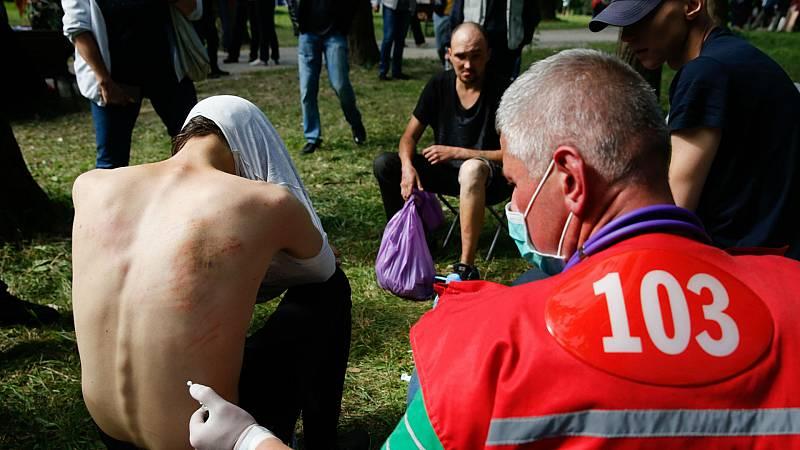 Boletines RNE - La tensión continúa en Bielorrusia por quinto día consecutivo - Escuchar ahora