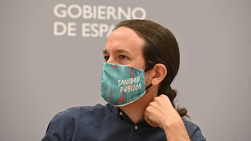 """14 horas - Iglesias critica que la imputación de Podemos es un """"juicio mediático"""" para tapar asuntos como la marcha del rey emérito - Escuchar ahora"""