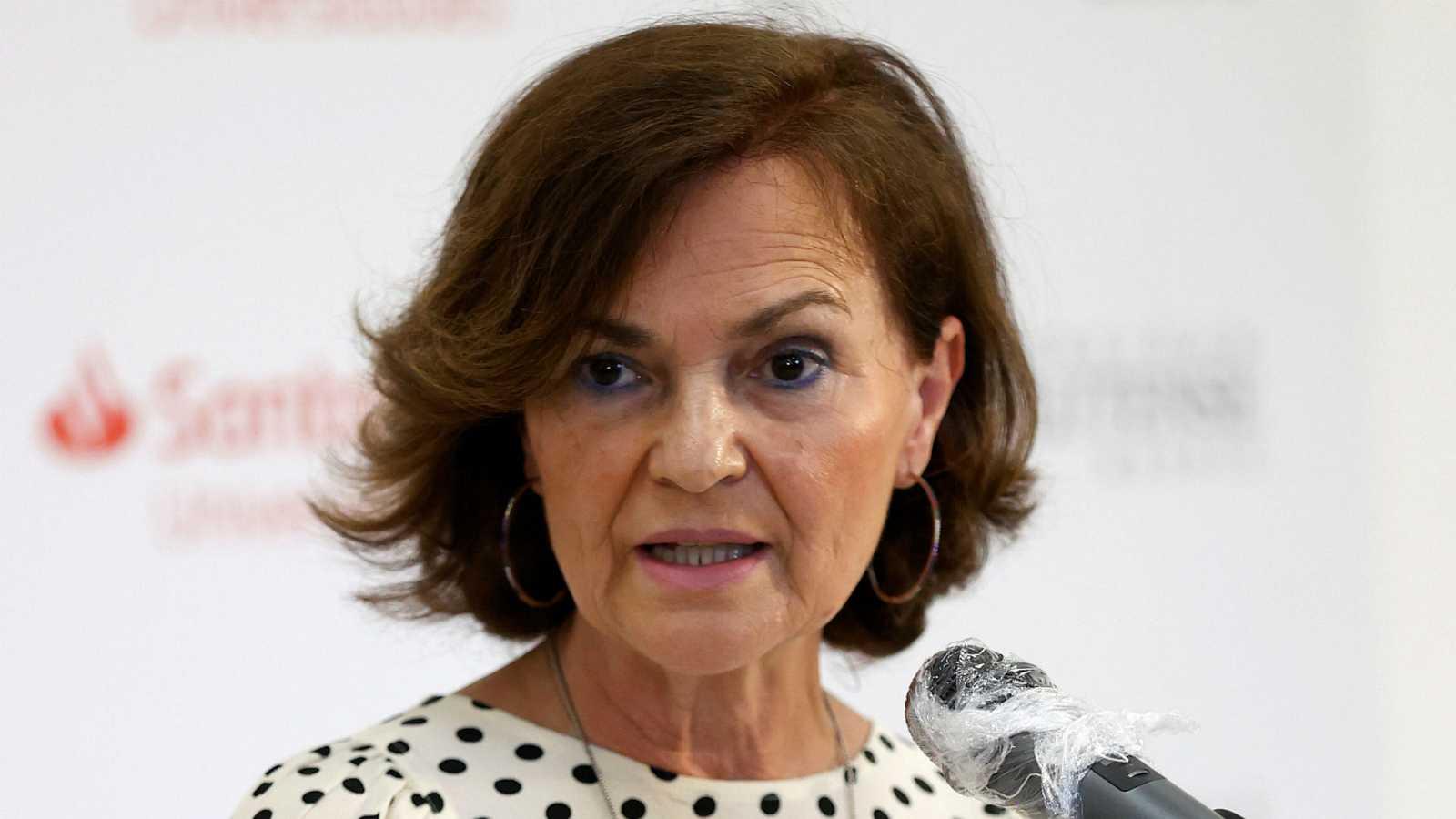 """Las mañanas de RNE con Íñigo Alfonso - Carmen Calvo sobre los presupuestos: """"Nos tenemos que dirigir al resto de partidos. No nos queda otra."""" - Escuchar ahora"""