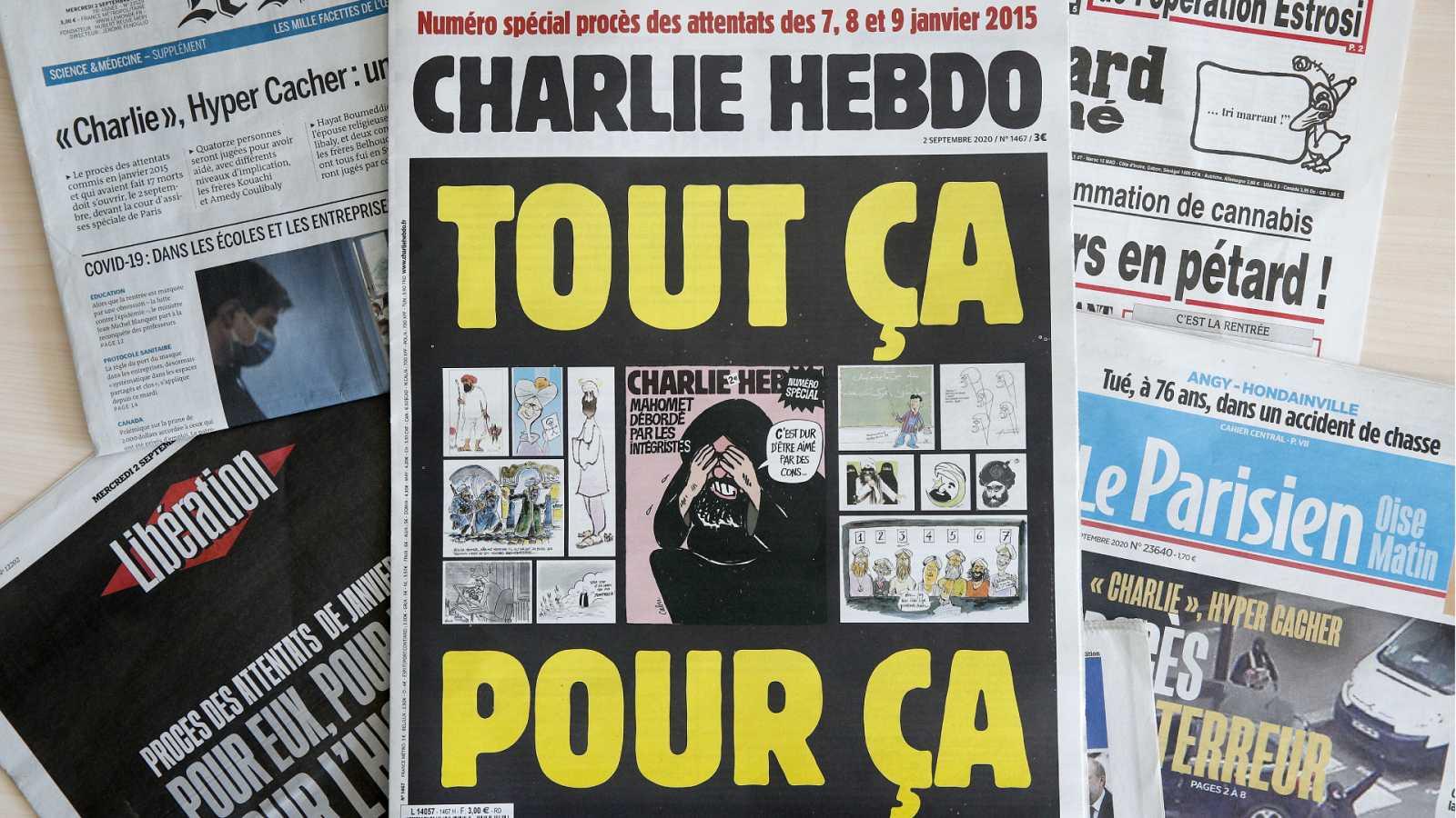 14 horas - Comienza el juicio por los atentados de 'Charlie Hebdo' - Escuchar ahora