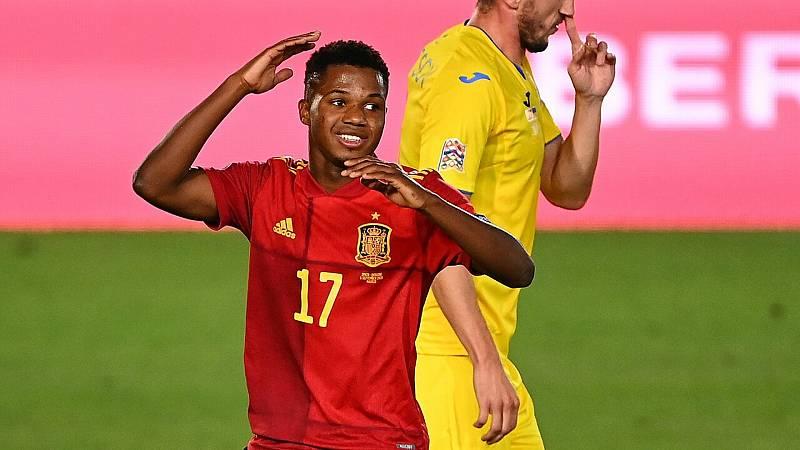 24 horas fin de semana - Ansu Fati destaca en el España-Ucrania liderando goleada 4-0 - Escuchar ahora