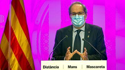 Boletines RNE - Cataluña reduce de 14 a 10 días la cuarentena de contactos estrechos - Escucha ahora