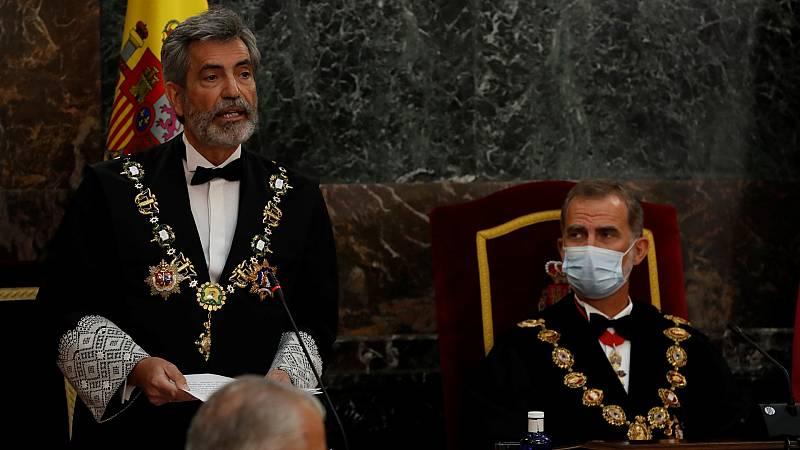 """14 horas - Lesmes (CGPJ) expresa su """"enorme pesar"""" por la ausencia del rey en la entrega de despachos a los nuevos jueces - Escuchar ahora"""