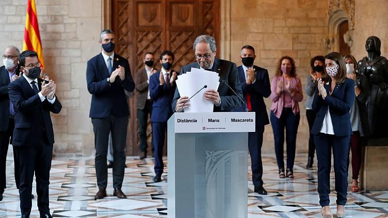 """24 horas - Torra considera """"un golpe urdido por el Estado español"""" su inhabilitación, confirmada por el Supremo - Escuchar ahora"""