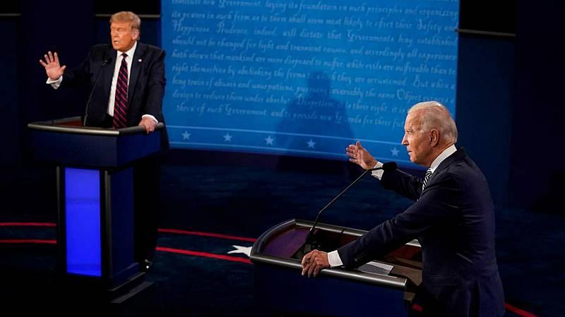 Las mañanas de RNE con Íñigo Alfonso - Trump enfanga el primer debate ante Biden y vuelve a negarse a aceptar el resultado si pierde las elecciones - Escuchar ahora