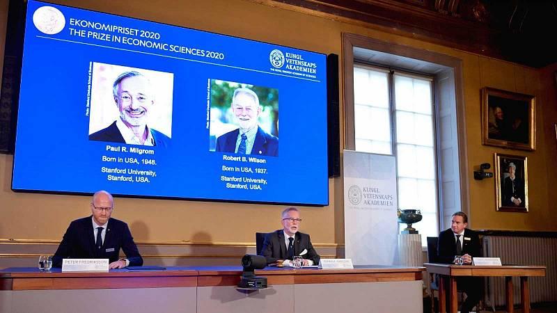 14 horas - Los estadounidenses R. Milgrom y Robert B. Wilson, premio Nobel de Economía 2020 - Escuchar ahora