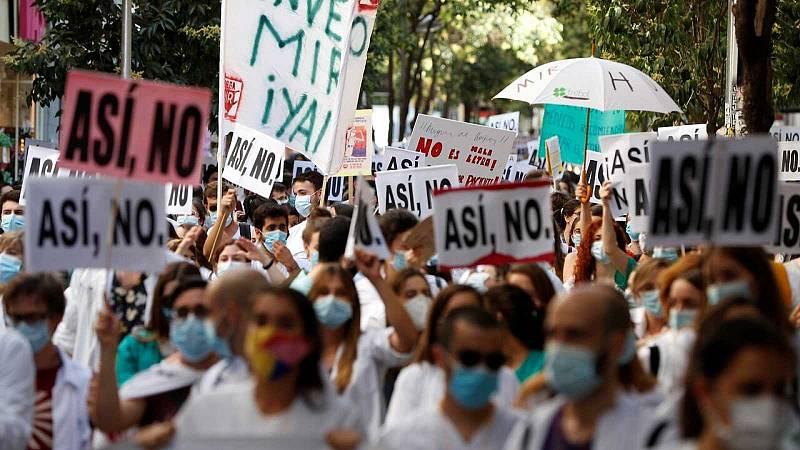 14 horas - El personal sanitario vuelve a movilizarse para exigir más personal y medios - Escuchar ahora