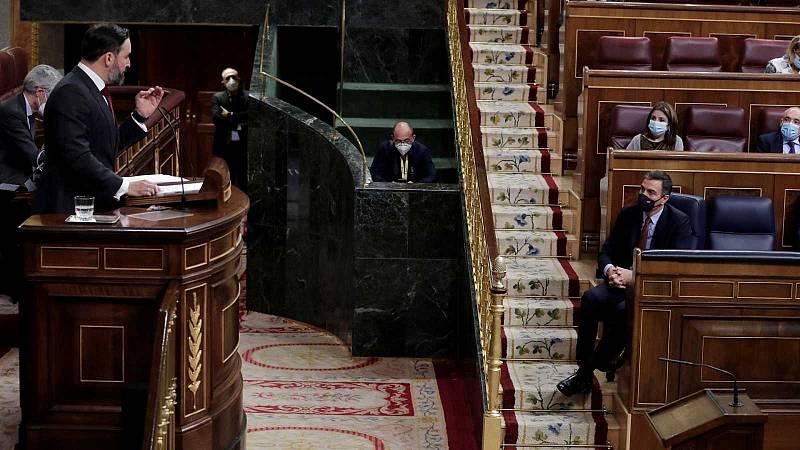 14 horas - Vox se queda solo en su moción de censura contra Sánchez - Escuchar ahora