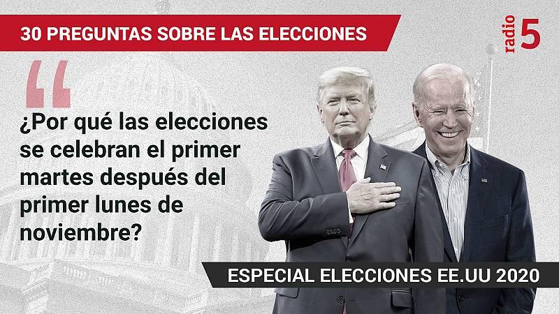 Especiales informativos RNE - ¿Por qué las elecciones se celebran el primer martes después del primer lunes de noviembre? - Escuchar ahora