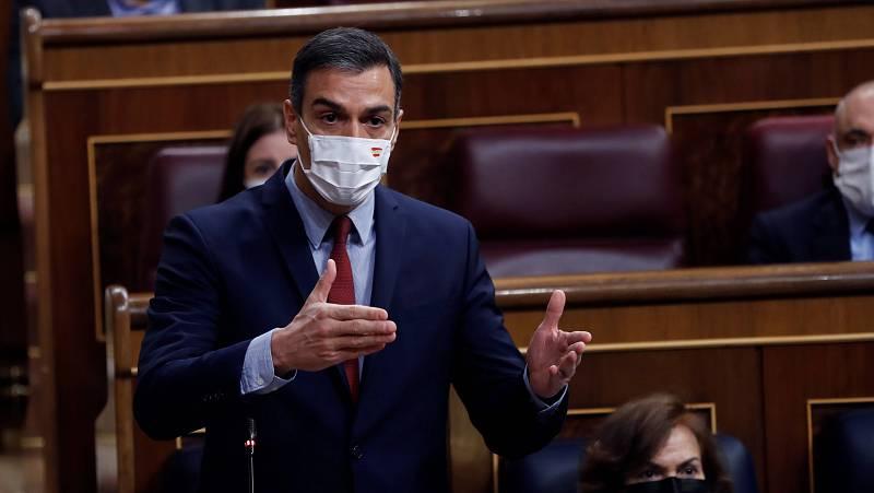 14 horas - Sánchez acepta comparecer cada dos meses y ofrece revisar el estado de alarma el 9 de marzo - Escuchar ahora