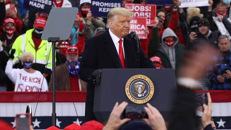 20 horas informativos Fin de semana - A tres días de las elecciones: Trump en campaña contra Biden agitando el fantasma comunista - Escuchar ahora