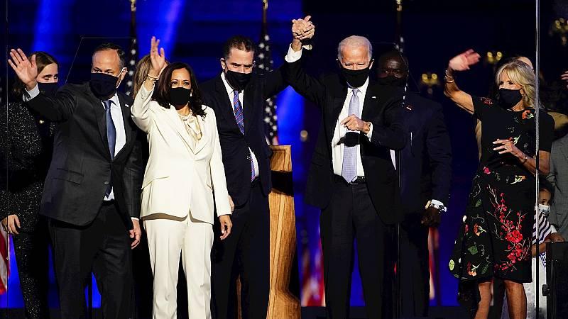 España a las 8 Fin de Semana - Biden apuesta por la concordia entre los estadounidenses en su primer discurso como presidente electo - Escuchar ahora