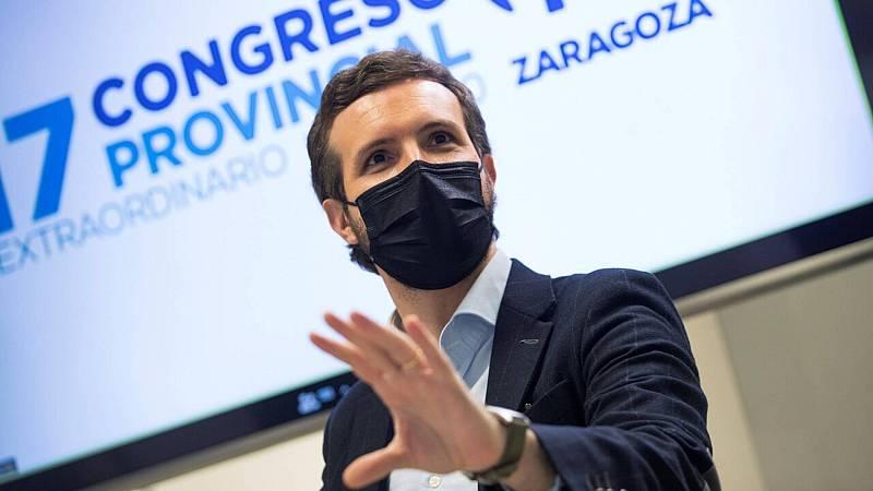 """20 horas informativos Fin de semana - Casado afirma que Sánchez al pactar con EH Bildu los presupuestos """"ha cruzado una línea negra"""" - Escuchar ahora"""