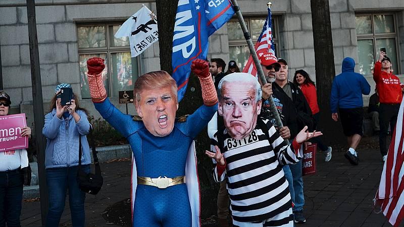 España a las 8 Fin de Semana - Tensión en Washington: una decena de detenidos y un herido durante los enfrentamientos entre seguidores y detractores de Trump - Escuchar ahora