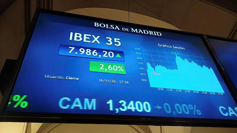 24 horas - El Ibex35 alcanza niveles de principios de marzo - Escuchar ahora