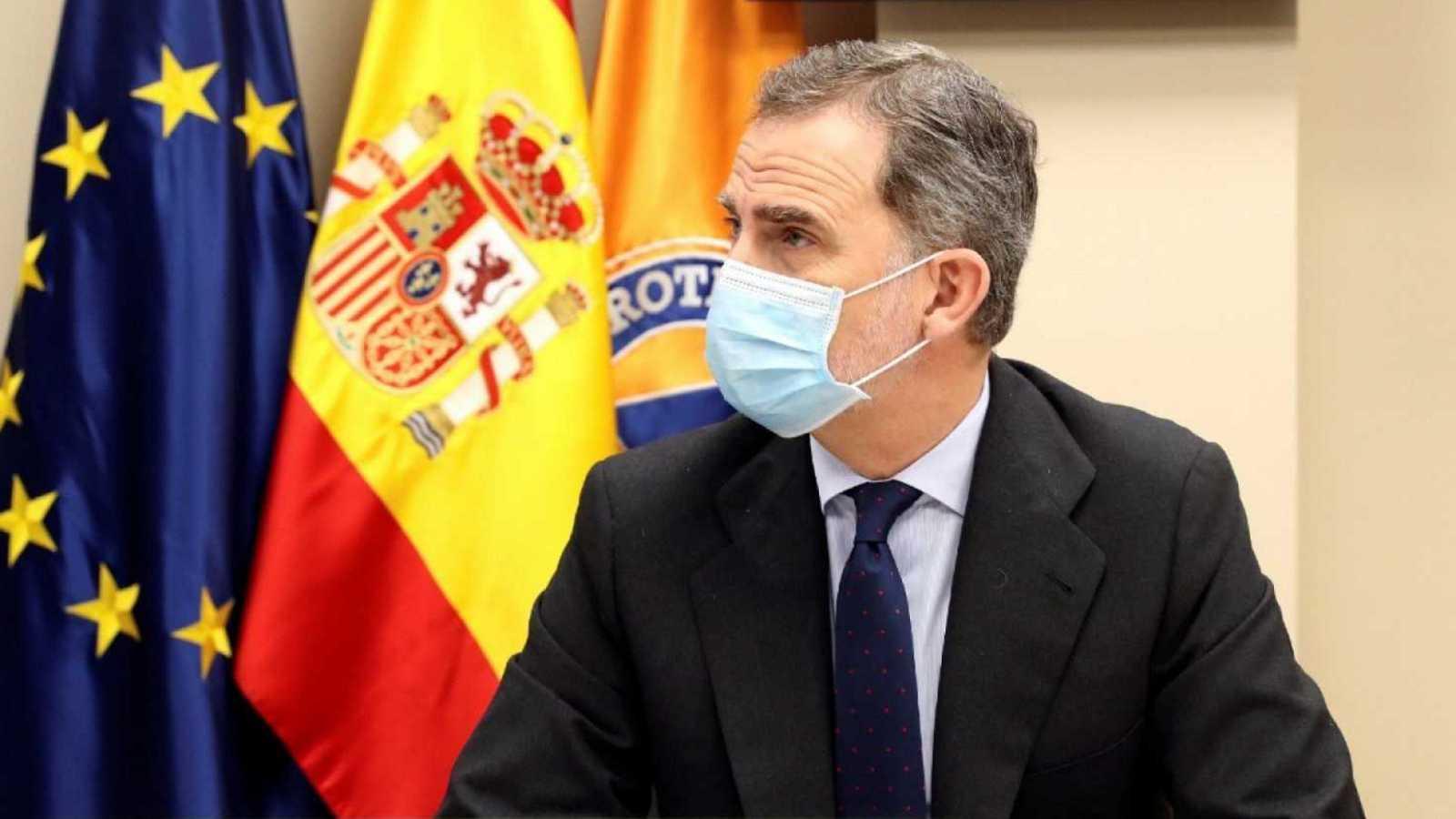 24 horas - El rey Felipe VI, en cuarentena tras mantener contacto con un positivo - Escuchar ahora