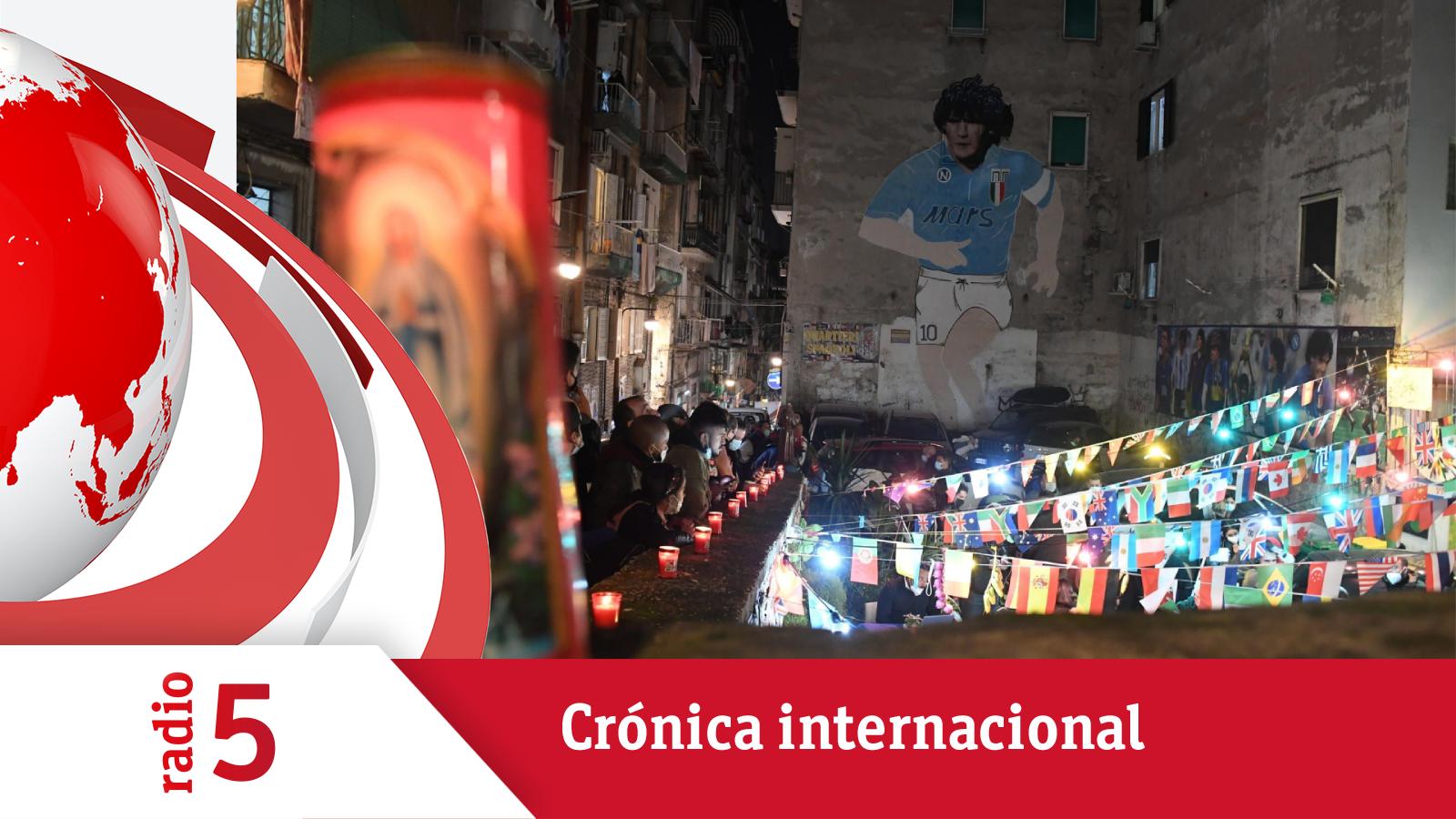 Crónica Internacional - Nápoles llora a Maradona - Escuchar ahora