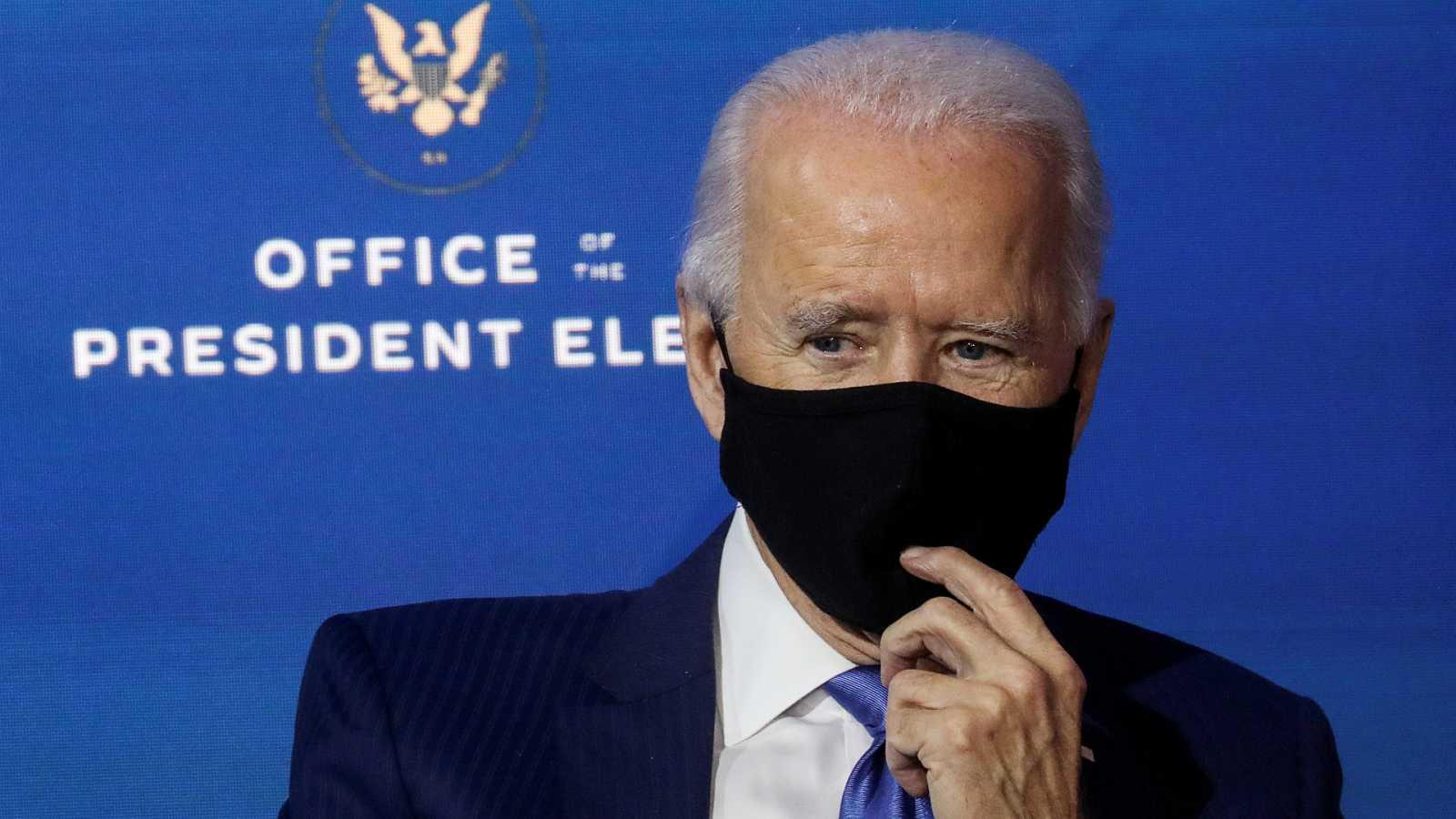 Las mañanas de RNE con Íñigo Alfonso - Biden pedirá a los estadounidenses que lleven mascarilla durante sus primeros 100 días como presidente - Escuchar ahora