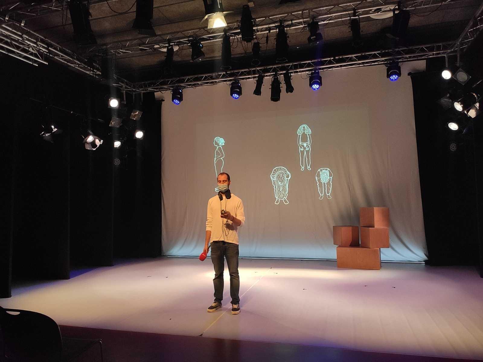 Recursos homínids - Un productor i regidor de performances en viu