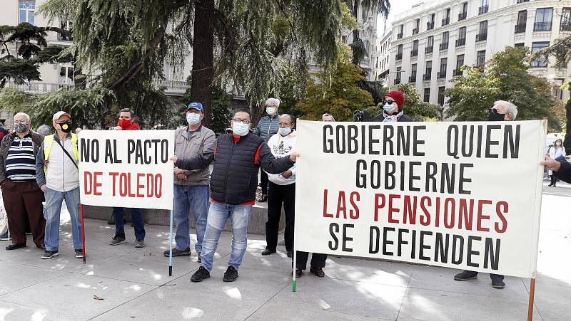 Las mañanas de RNE con Íñigo Alfonso - Los pensionistas vuelven a protestar por el Pacto de Toledo y reclaman una reforma justa y sostenible - Escuchar ahora