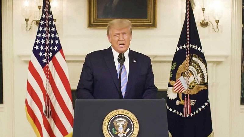 24 horas - Trump reconoce por primera vez su derrota en las elecciones y dice sentirse indignado por el asalto al Capitolio - Escuchar ahira