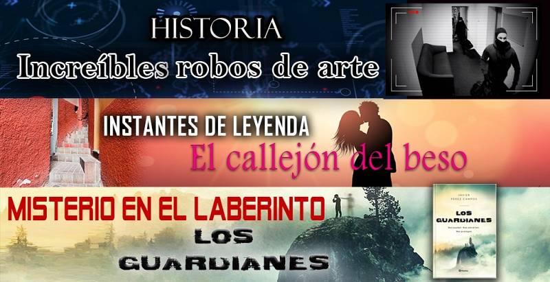 """Una noche en el laberinto #19 - Robos de arte, El callejón del beso y """"Los guardianes"""" - 09/01/21 - escuchar ahora"""