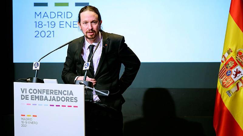 Boletines RNE - Iglesias mantiene sus palabras sobre Puigdemont y los exiliados republicanos - Escuchar ahora