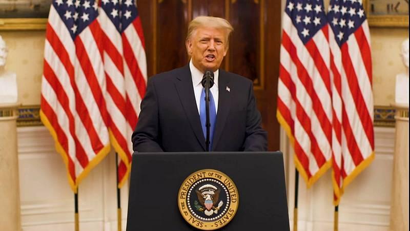 """14 horas - Trump se va: """"El movimiento que iniciamos es solo el principio"""" - Escuchar ahora"""