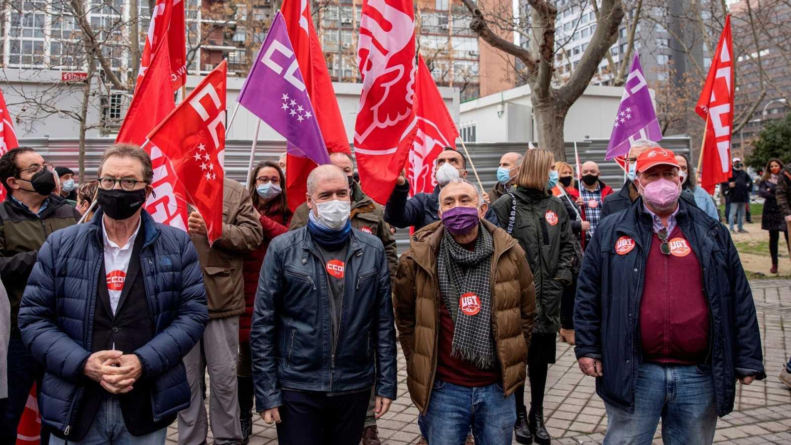 14 horas - Los sindicatos se movilizan para reclamar al Gobierno que cumpla sus promesas  Escuchar ahora