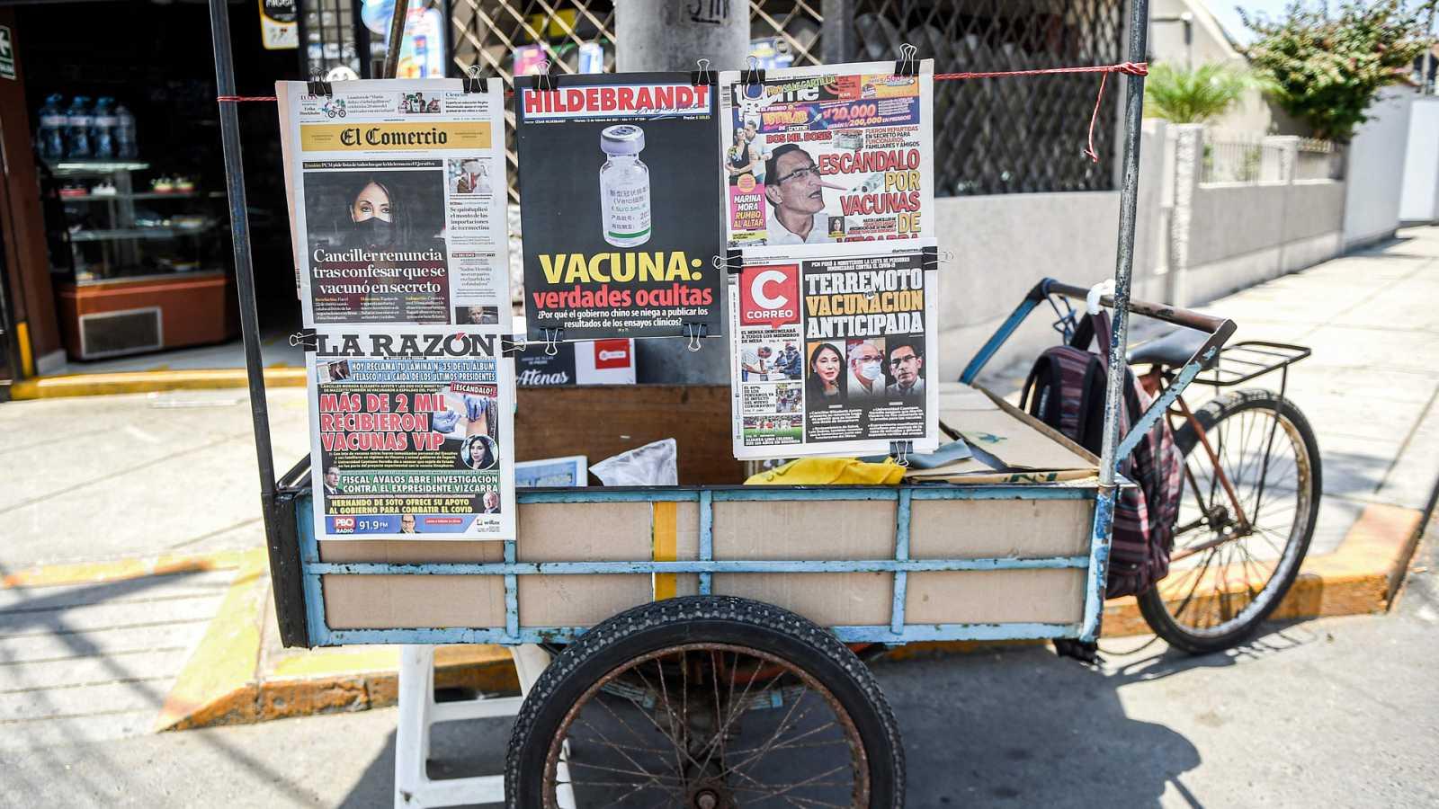 Hora América - 'Vacunagate' en Perú - 16/02/21 - escuchar ahora