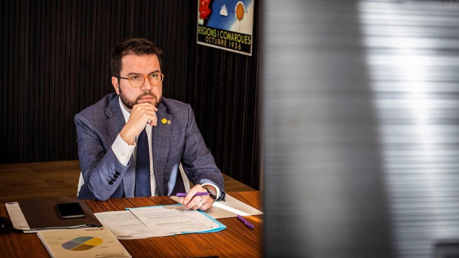 Edició Vespre - Pere Aragonès fa una crida a la calma surt en defensa de Mossos