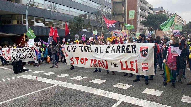Primera vaga d'educadores infantils a Catalunya