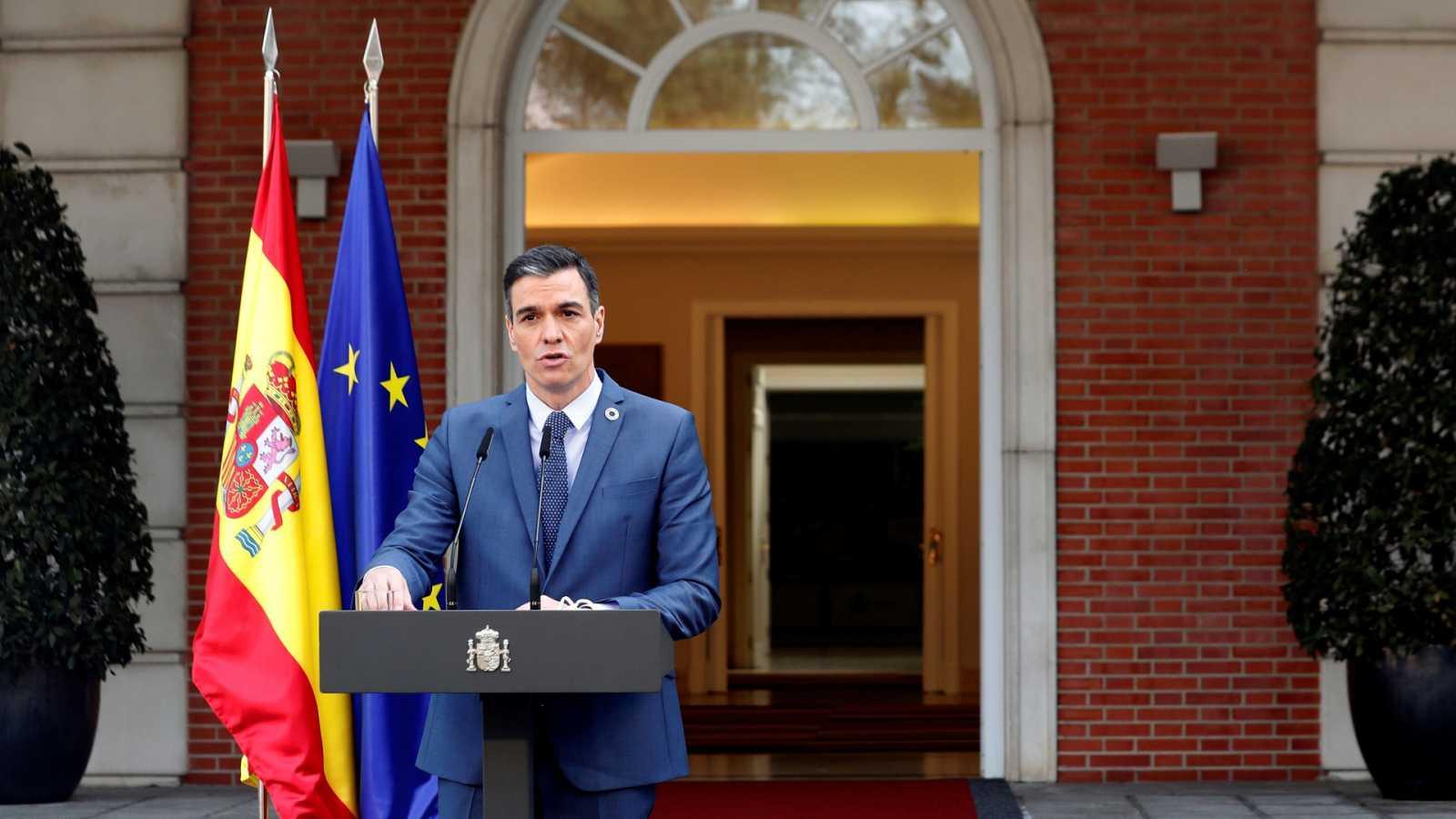 14 horas - Sánchez rechaza las 'conductas incívicas' del rey emérito y no da por rotas las negociaciones sobre el CGPJ - Escuchar ahora
