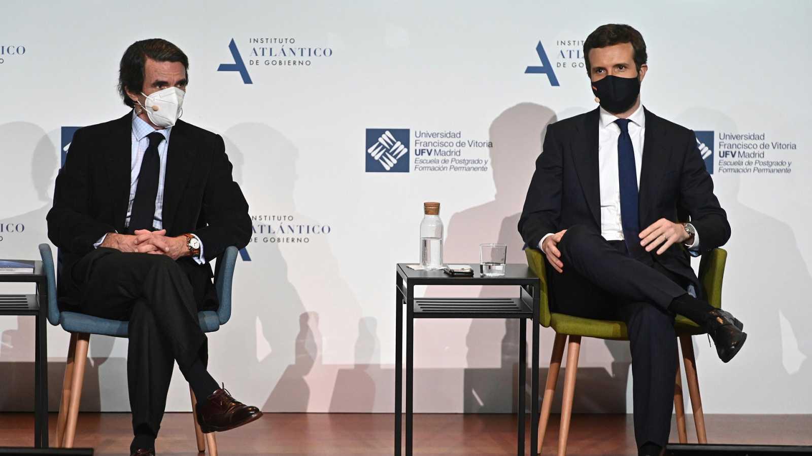 14 horas - Casado evita el choque con Aznar y pide tiempo para consolidar su proyecto - escuchar ahora