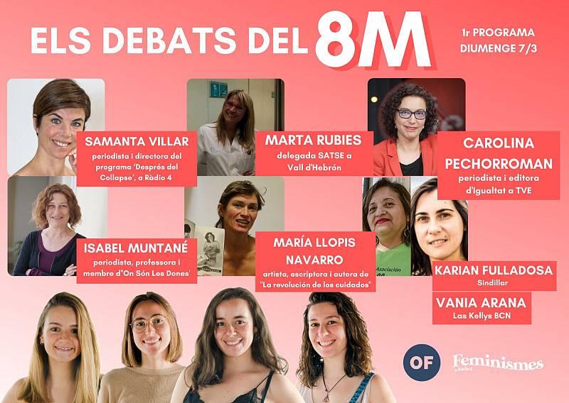 Feminismes a Ràdio 4 - Primer debat del 8 de Març