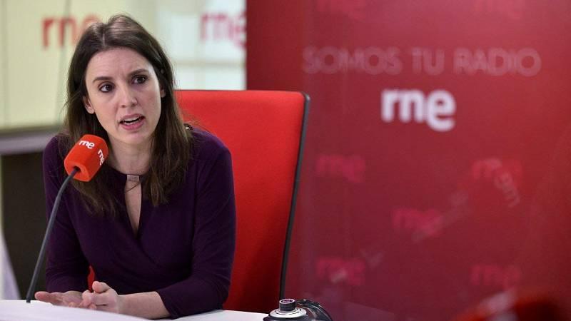 """Las mañanas de RNE con Íñigo Alfonso - Irene Montero, ministra de Igualdad: """"Tengo que acatar las prohibiciones, pero empatizo y entiendo al movimiento feminista"""" - escuchar ahora"""