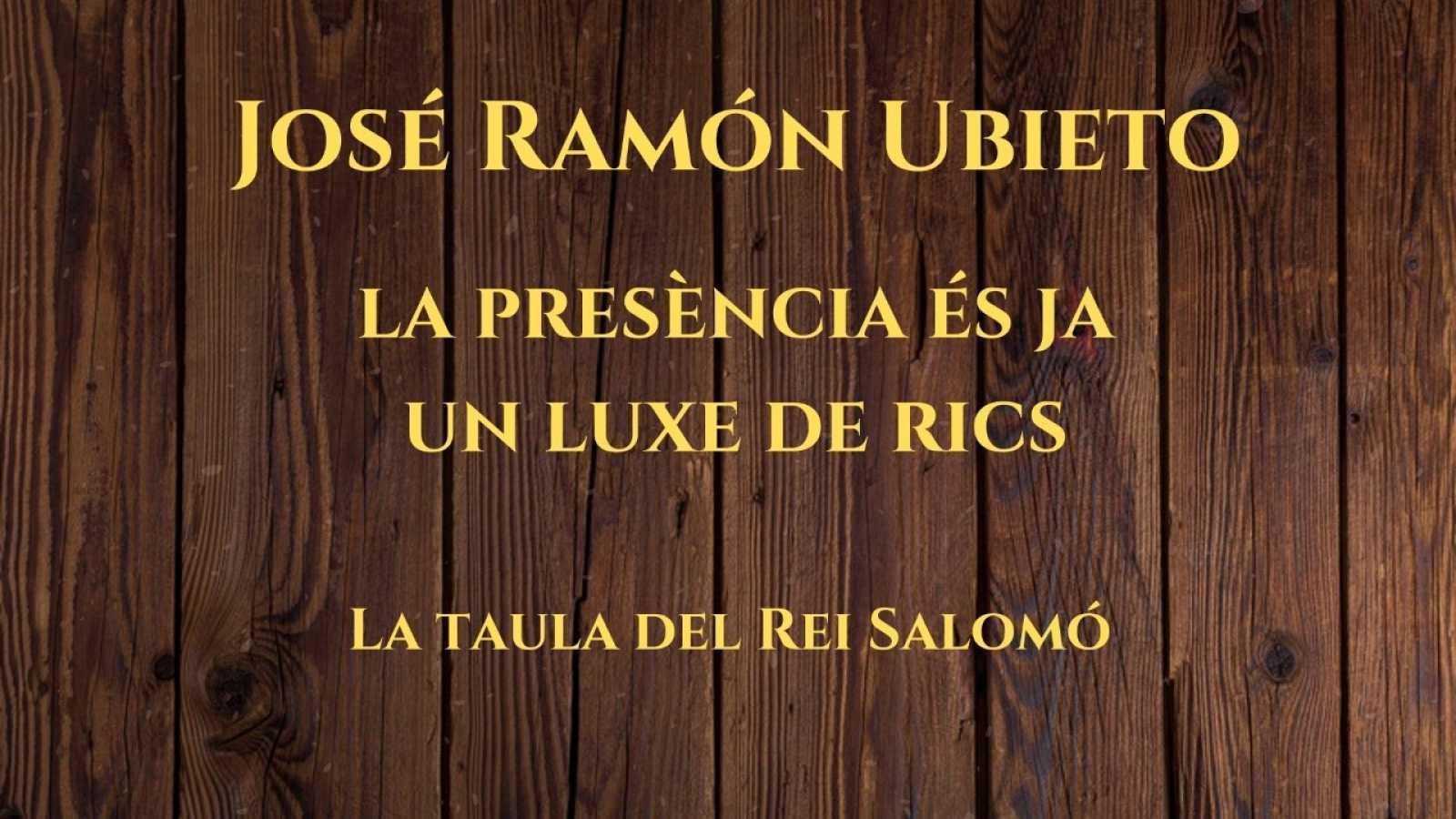 Wonderland - La taula del Rei Salomó. Entrevista a José Ramón Ubieto. Amb Cristina Hernández