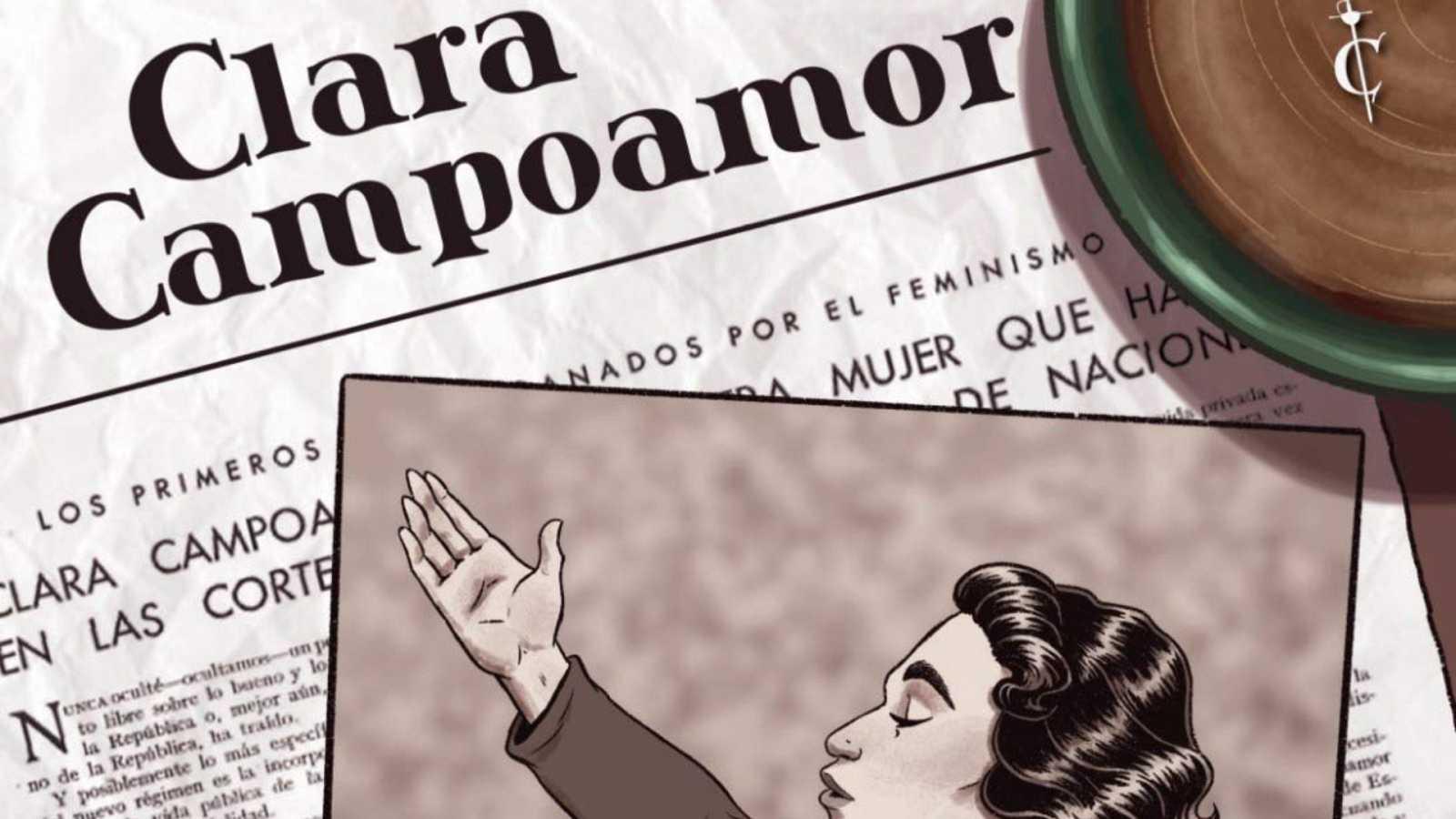 El gallo que no cesa - Ilustrando la vida de Clara Campoamor en un cómic - Escuchar ahora
