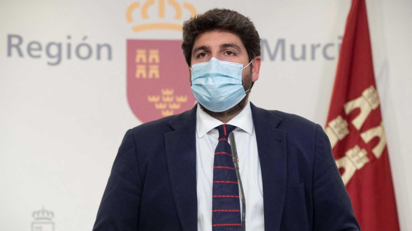 """24 horas - López Miras, PP: """"Sin estado de alarma carecemos de herramientas para contener la pandemia"""" - Escuchar ahora"""
