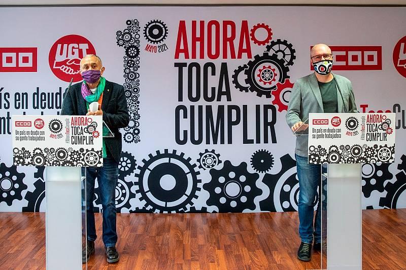 """Las mañanas de RNE con Íñigo Alfonso - Los sindicatos quieren que el 1 de mayo sirva para recordar que hay mucha gente """"que se ha quedado colgada por la pandemia"""" - Escuchar ahora"""